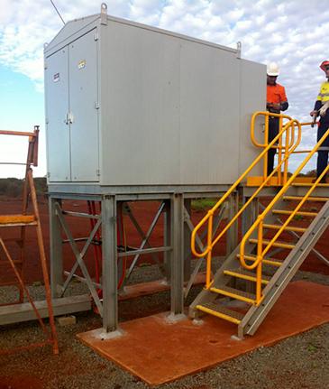 Um GMK NOJA Power instalado numa mina na Austrália, fornecendo proteção para ativos MV.