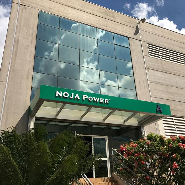 Figura 3 - Entrada para as novas instalações da NOJA Power Brasil