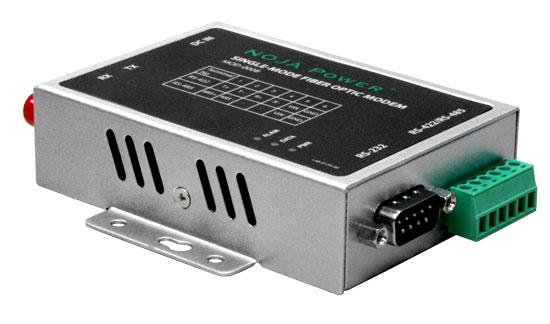 Modem de fibra óptica de modo único RS232