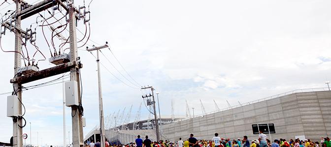 Instalação do Religador Automático da NOJA Power, em Estádio Castelão, Brasil