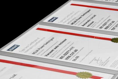 Certificados de Ensaio de Tipo
