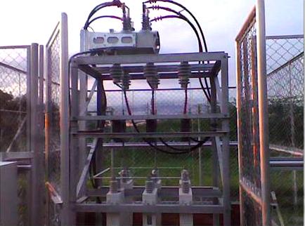 O Religador da NOJA Power Instalado em um Banco de Capacitor Externo