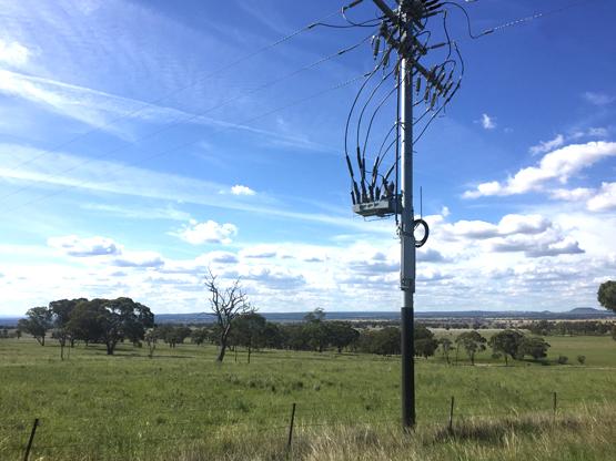 instalação do Religador da NOJA Power em New South Wales, Austrália