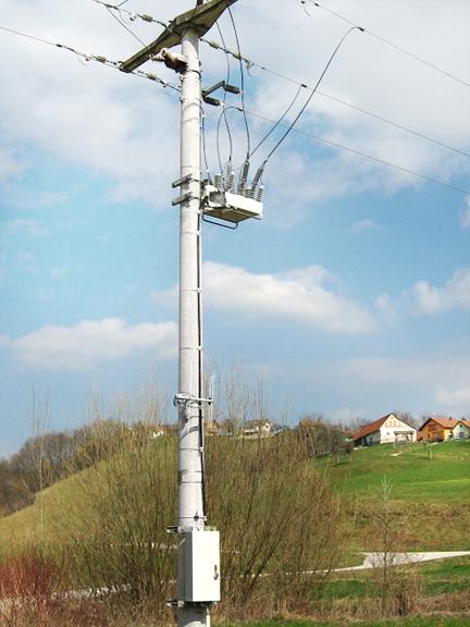 Instalação do religador da NOJA Power