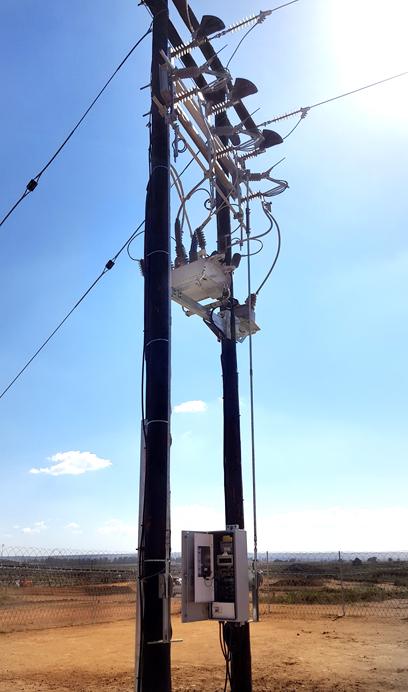Instalação do religador OSM da NOJA Power na África do Sul