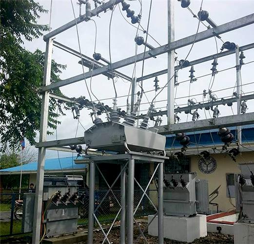 Instalação do Religador OSM da NOJA Power em uma ilha nas Filipinas